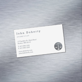 Attorney at Law | Scales of Justice Magnetic Business Card