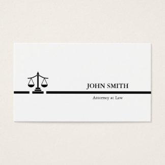 Attorney Black white Professional minimalist Business Card
