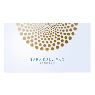 Attorney Business Card Circle Dots Motif