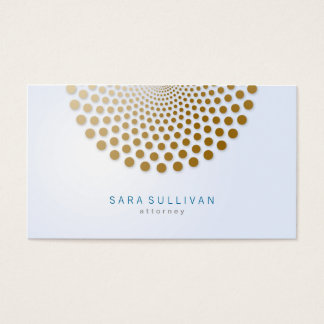 Attorney Business Card Circle Dots Motif