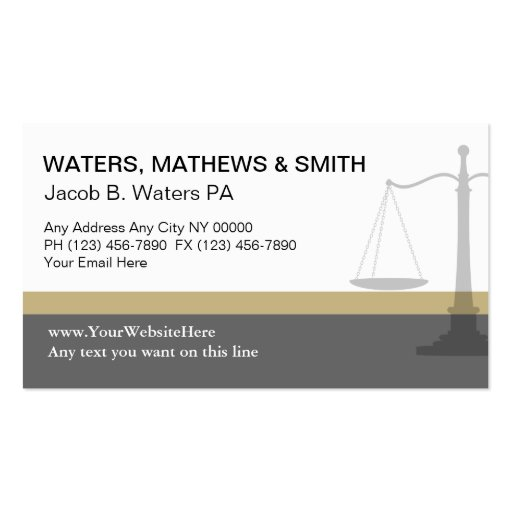 Attorney Business Cards Unique