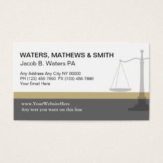 Attorney Business Cards Unique