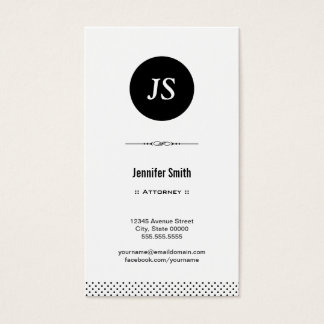 Attorney - Clean Black White Business Card