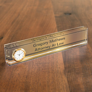 Attorney Executive Desk Name Plates