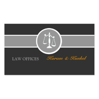 Attorney Justice Scales Black White Gray Business Cards