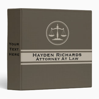 Attorney Justice Scales Lawyer 3 Ring Binder