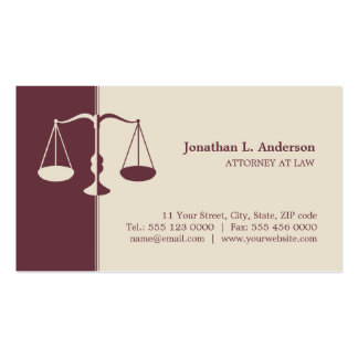 Attorney Lawyer - Burgundy business card