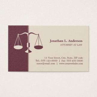 Attorney / Lawyer - Burgundy business card