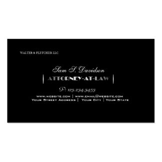 Attorney Lawyer Law Firm Black Business Card