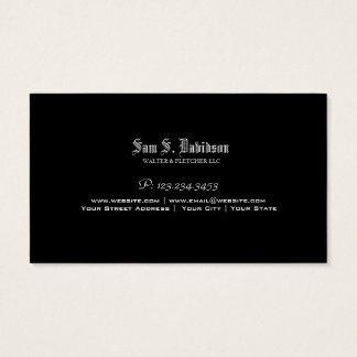Attorney/Lawyer/Law Firm Black Business Card