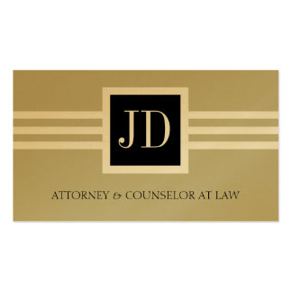 Attorney Lawyer Law Firm Monogram Tan Gold Paper Business Card Templates