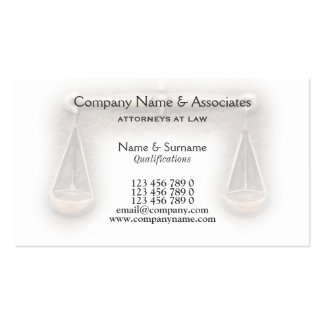 Attorney Lawyer law legal firm Business Card