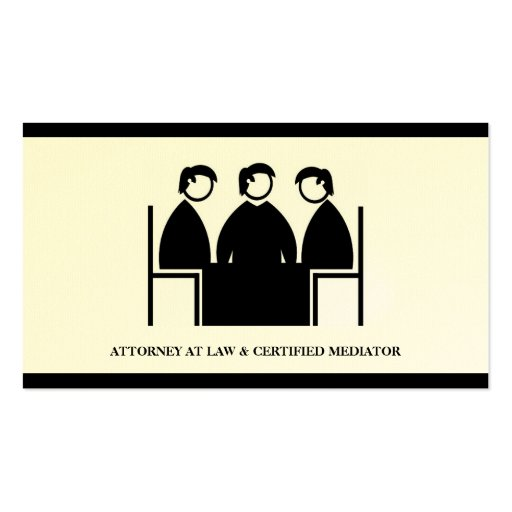 Attorney Lawyer Mediator Mediation Law Office Firm Business Card Template