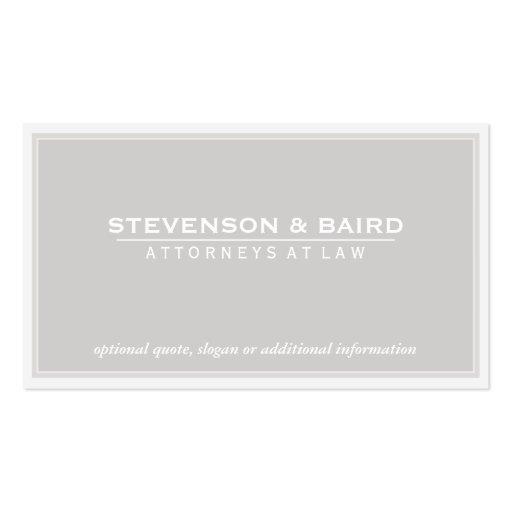 Attorney Light Grey Groupon Business Card