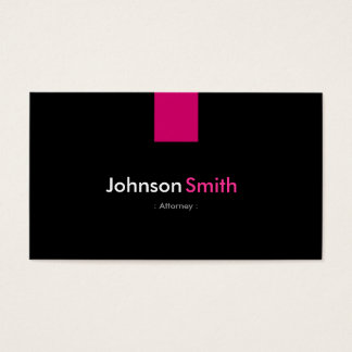 Attorney Modern Rose Pink Business Card