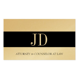 Attorney Monogram Golden Bandit Business Cards