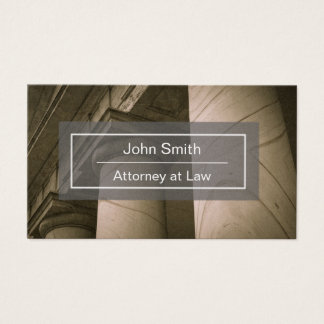 Attorney or Lawyer Business Card with Pillars