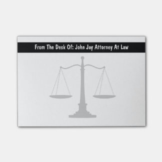 Attorney Theme Post Notes Post-It Notes