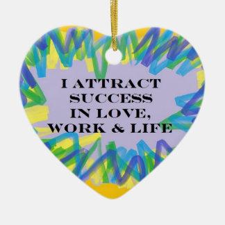 Attract Success Ceramic Heart Ornament