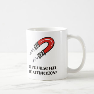Attraction & magnetism: First date love magnet Mugs