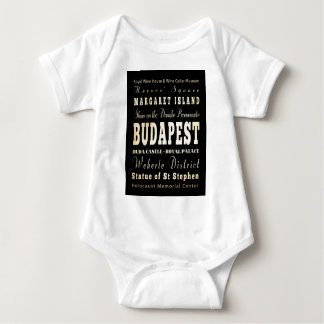 Attractions and Famous Places of Budapest, Hungary Baby Bodysuit