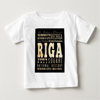 Attractions and Famous Places of Riga, Latvia Baby T-Shirt