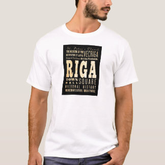 Attractions and Famous Places of Riga, Latvia T-Shirt