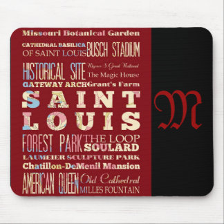 Attractions and Famous Places of St. Louis Mouse Pad