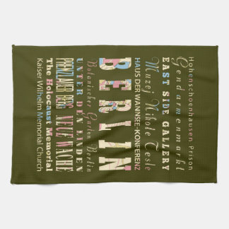 Attractions & Famous Places of Berlin,Germany. Kitchen Towel
