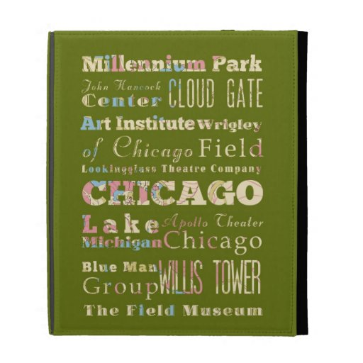 Attractions & Famous Places of Chicago, Illinois. iPad Folio Case