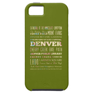 Attractions & Famous Places of Denver, Colorado. iPhone 5 Case