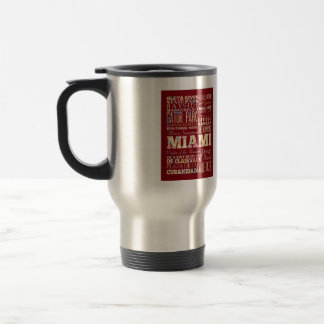 Attractions & Famous Places of Miami, Florida. Travel Mug