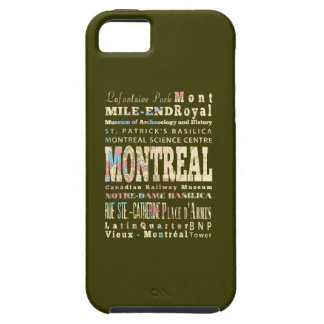 Attractions & Famous Places of Montreal, Québec. iPhone 5 Case