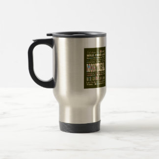 Attractions & Famous Places of Montreal, Québec. 15 Oz Stainless Steel Travel Mug