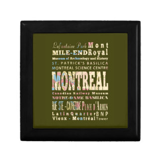 Attractions & Famous Places of Montreal, Québec. Trinket Boxes