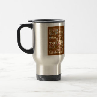 Attractions & Famous Places of Toledo, Ohio. Travel Mug