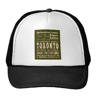 Attractions & Famous Places of Toronto, Canada. Trucker Hat