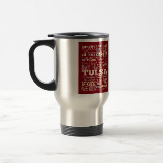 Attractions & Famous Places of Tulsa, Oklahoma. 15 Oz Stainless Steel Travel Mug