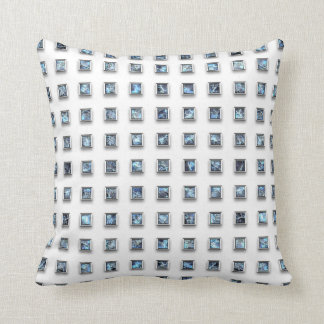 Attractive Blue Gems Throw Pillow
