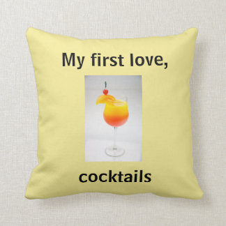 Attractive Cocktail Humor Throw Pillow