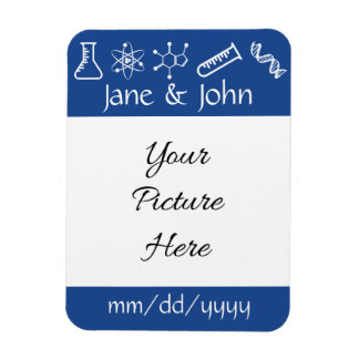 Attractive Forces in Blue Save-the-Date Magnet
