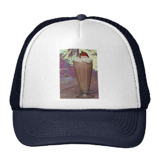 Attractive glass filled with Milkshake Hats