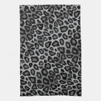 Attractive Gray Leopard Animal Print Kitchen Towel