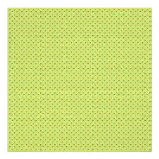Attractive green palm trees on rough yellow surfac poster