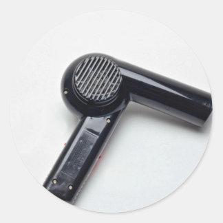 Attractive Hair dryer Classic Round Sticker