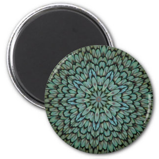 Attractive Peacock Feathers Kaleidoscope Fridge Magnets