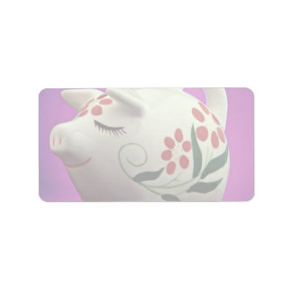 Attractive Piggy bank Label