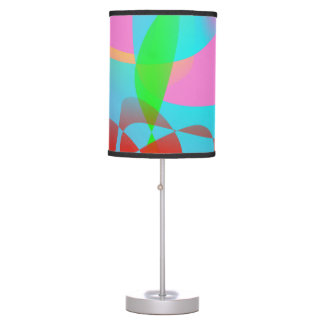 Attractive Pink Abstract Art Desk Lamps