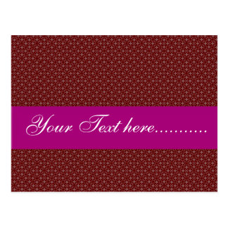 Attractive pink flowers on red background postcard
