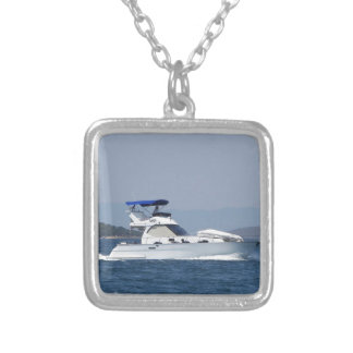 Attractive Small Motorboat Silver Plated Necklace
